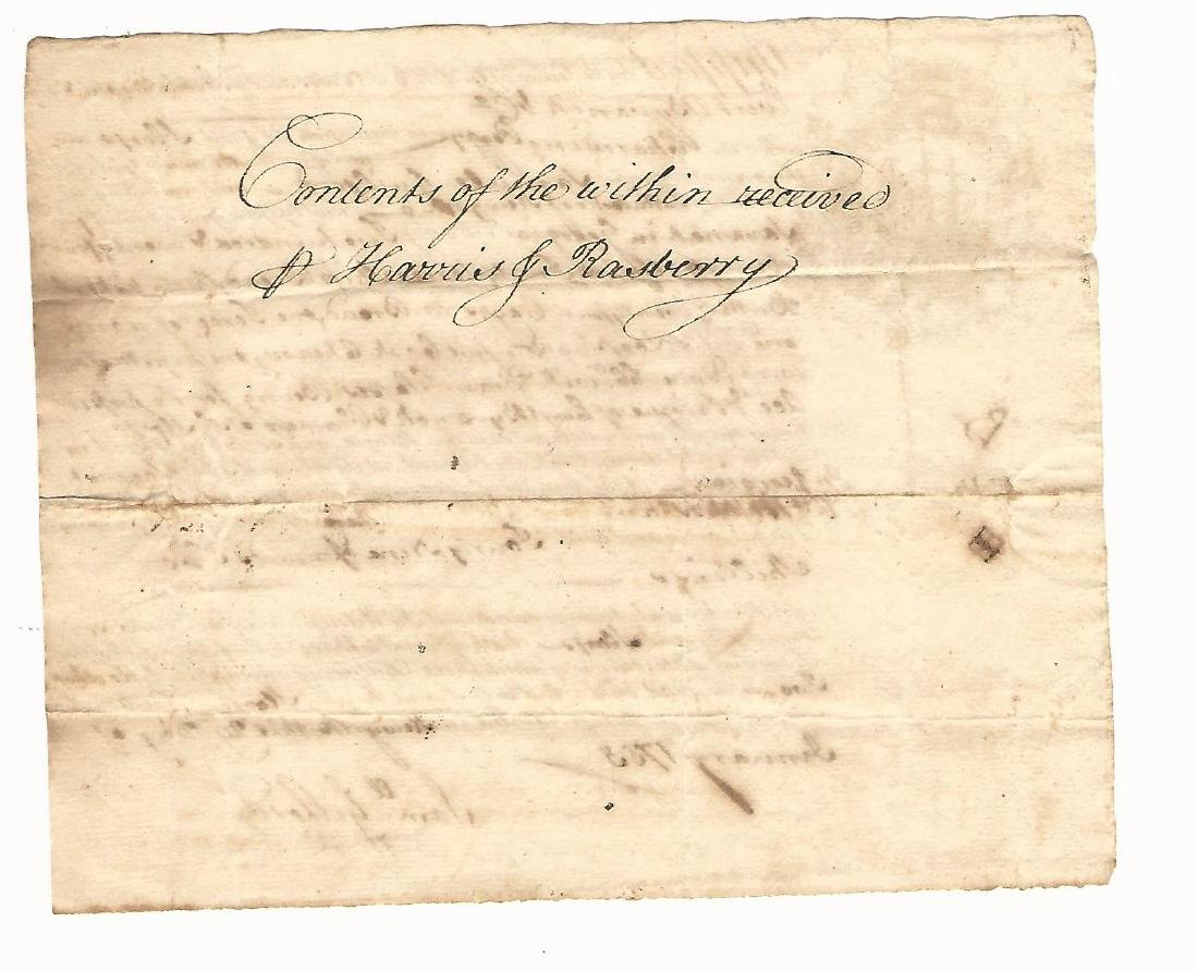 1755 Colonial Bill of Lading Sloop Chraming Peggy - 2