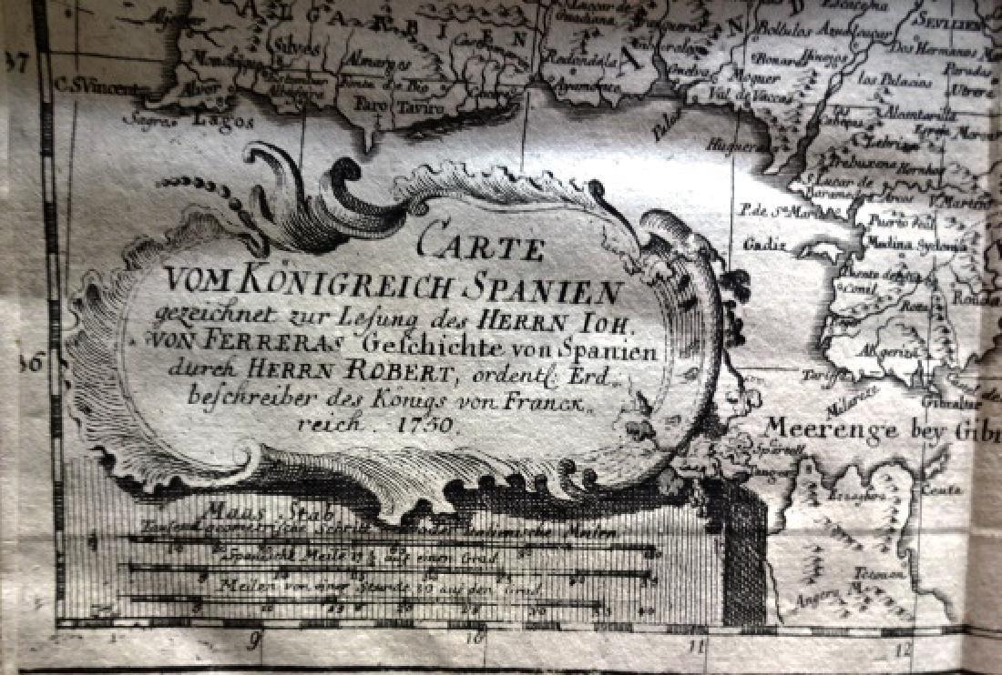 1760 Algemeine Historie von Spanien w/ Map of Spain