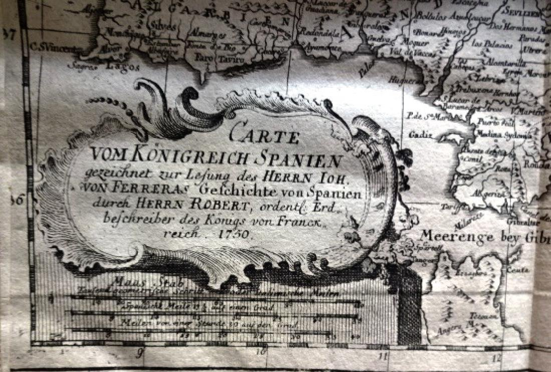 1760 Algemeine Historie von Spanien w/ Map of Spain
