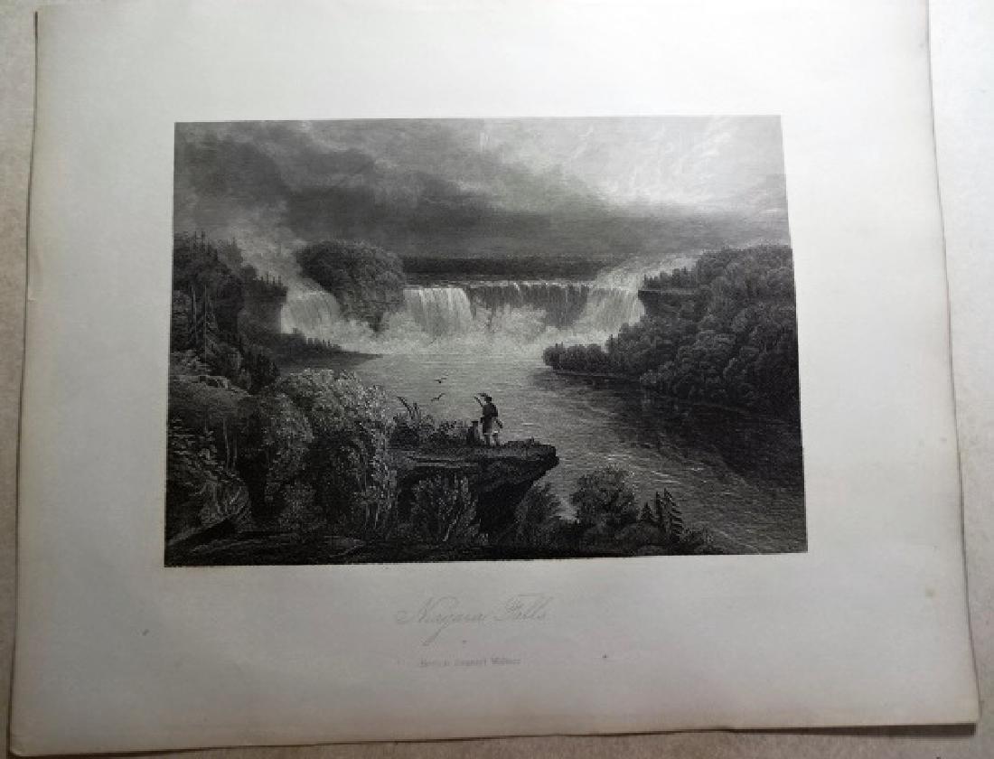 """Steel engraving of """"Niagara Falls"""", by Samuel Walker,"""