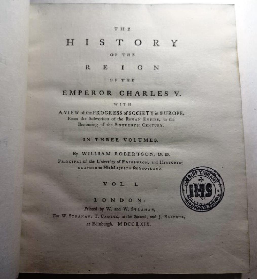1769 Three-Vol Set History Reign of Emperor Charles V - 3