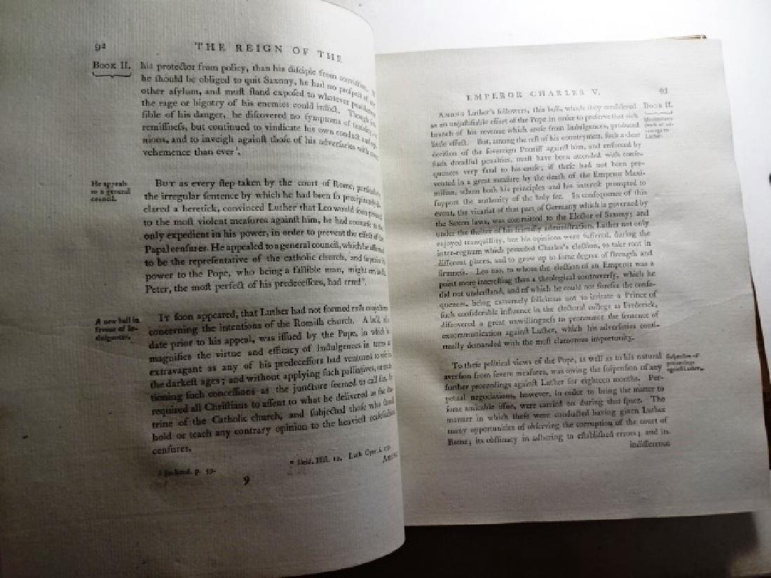 1769 Three-Vol Set History Reign of Emperor Charles V - 4