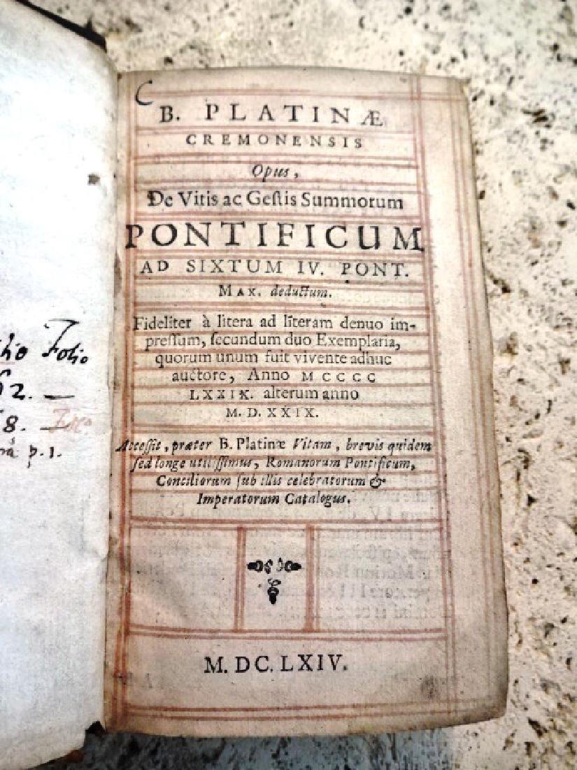 1664 De Vitis ac Gestis Summorum Pontificum Ad Sixtum