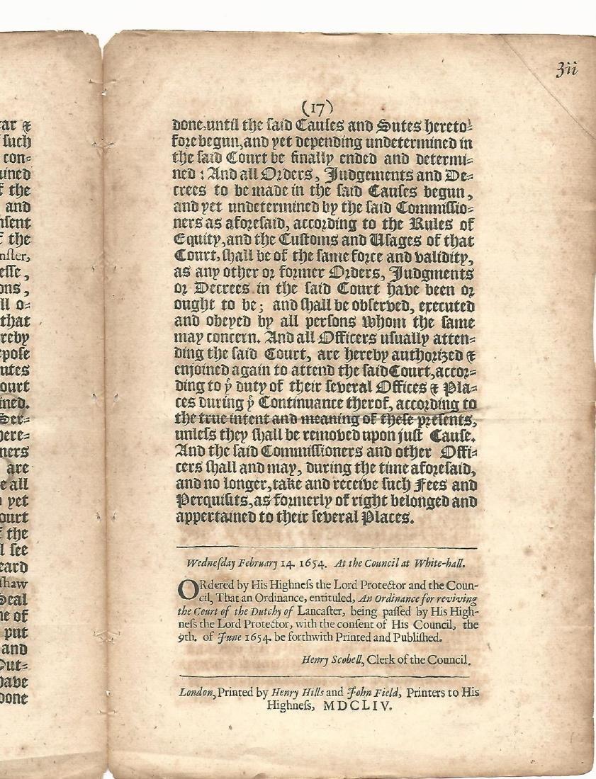 1654 English Commonwealth Act - 2
