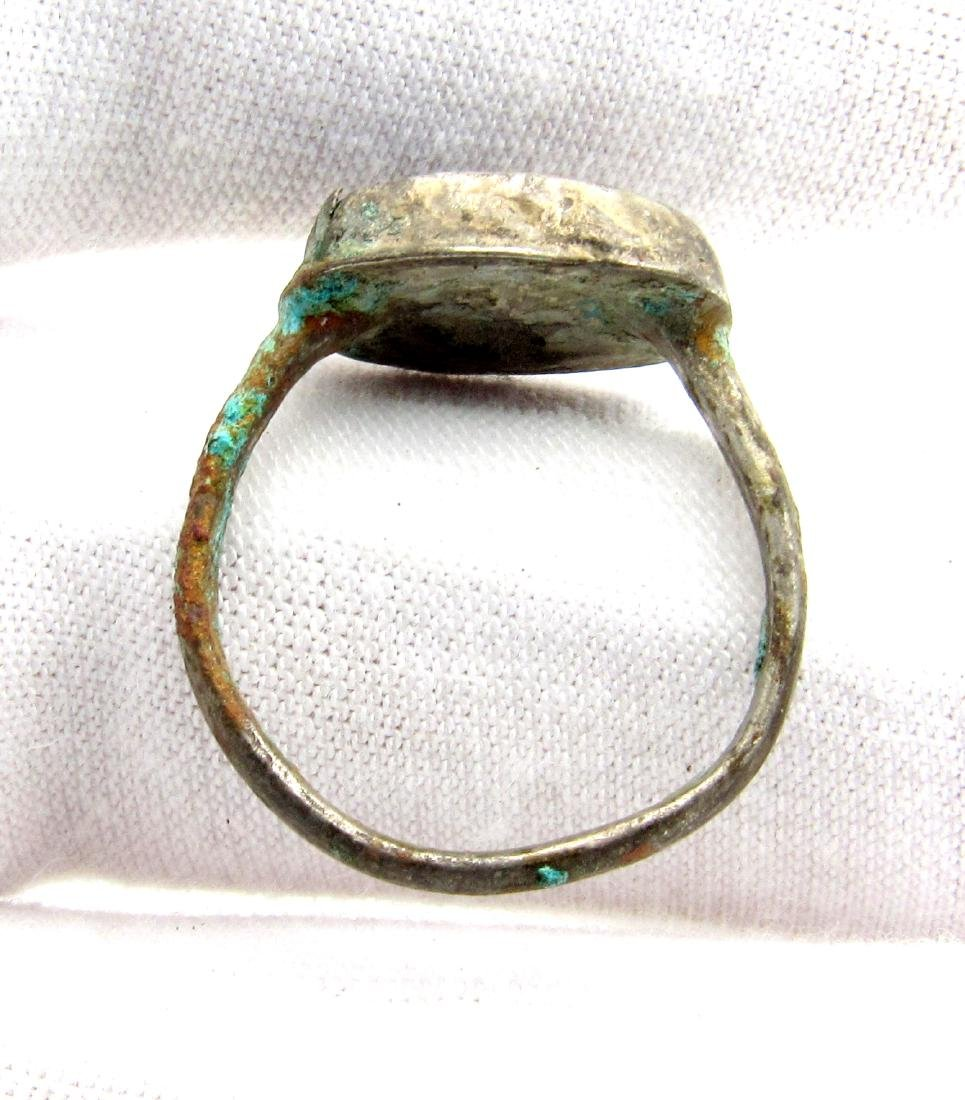 Byzantine Ring with Blue Gem - 3