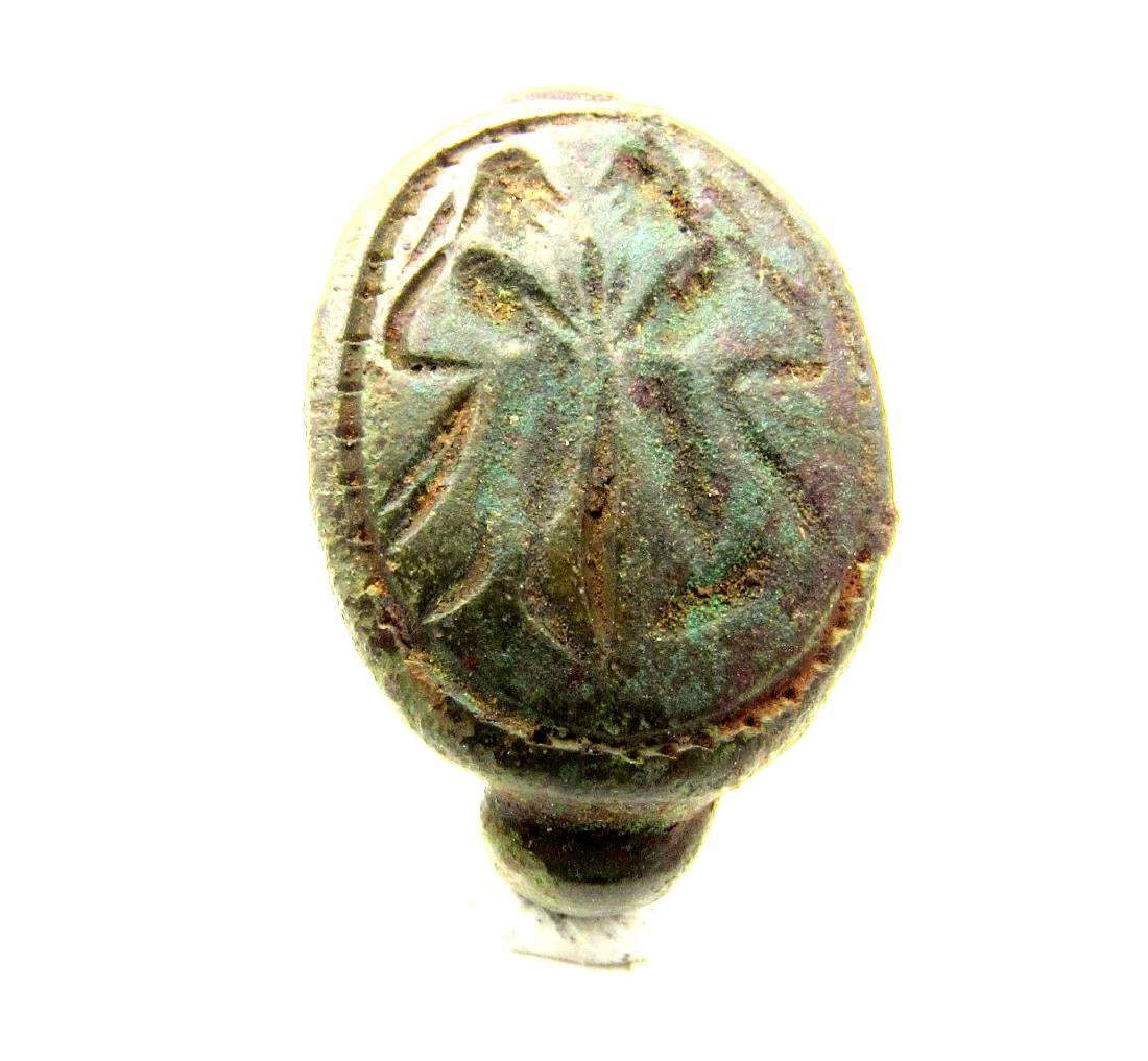 Greek Ring with Butterfly
