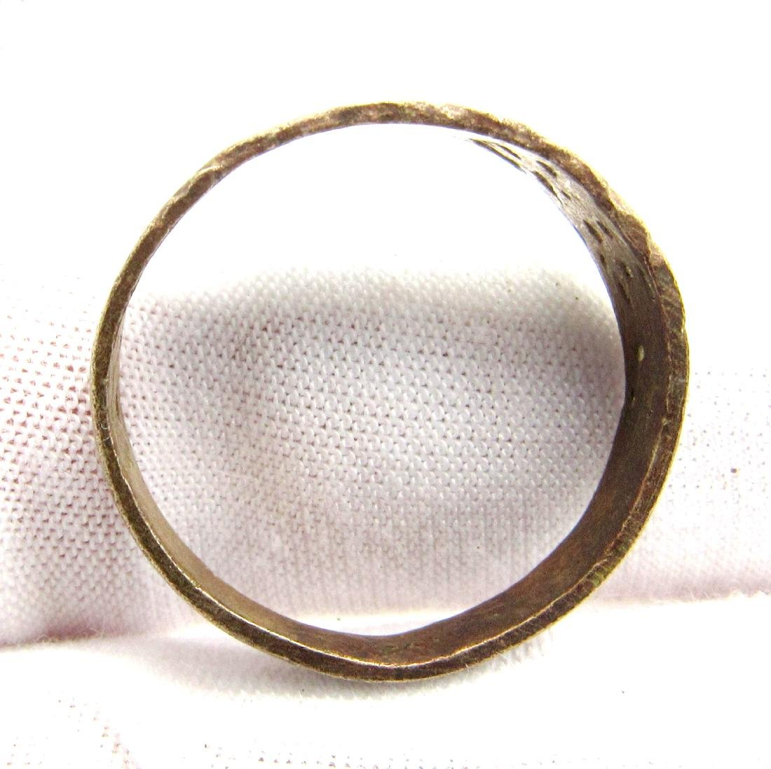 Tudor Period Wedding  Ring with Floral Decoration - 4