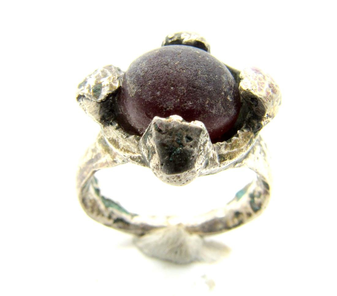 Viking Period Ring with Purple Stone