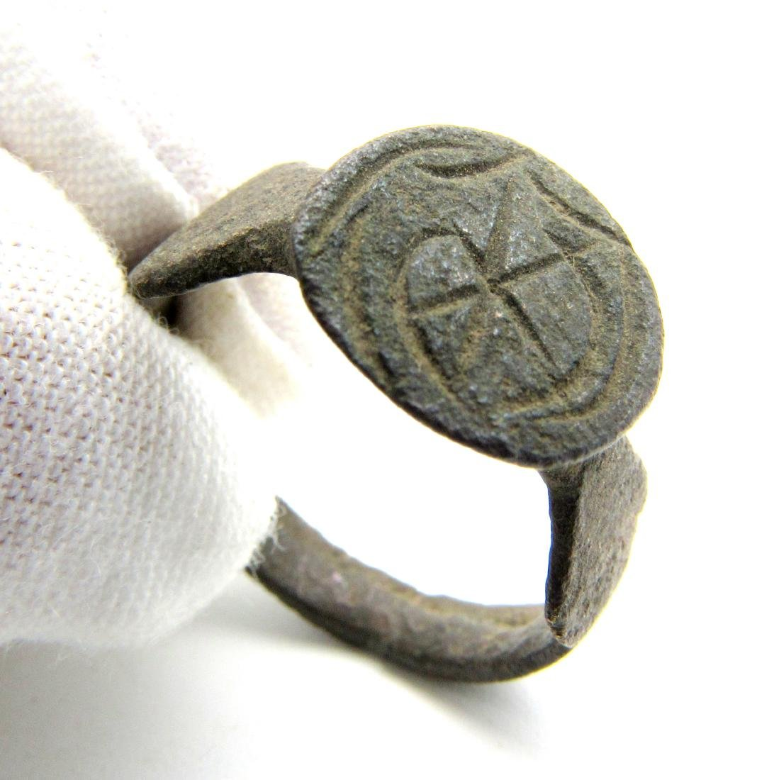 Crusaders Ring with Crescent and Star
