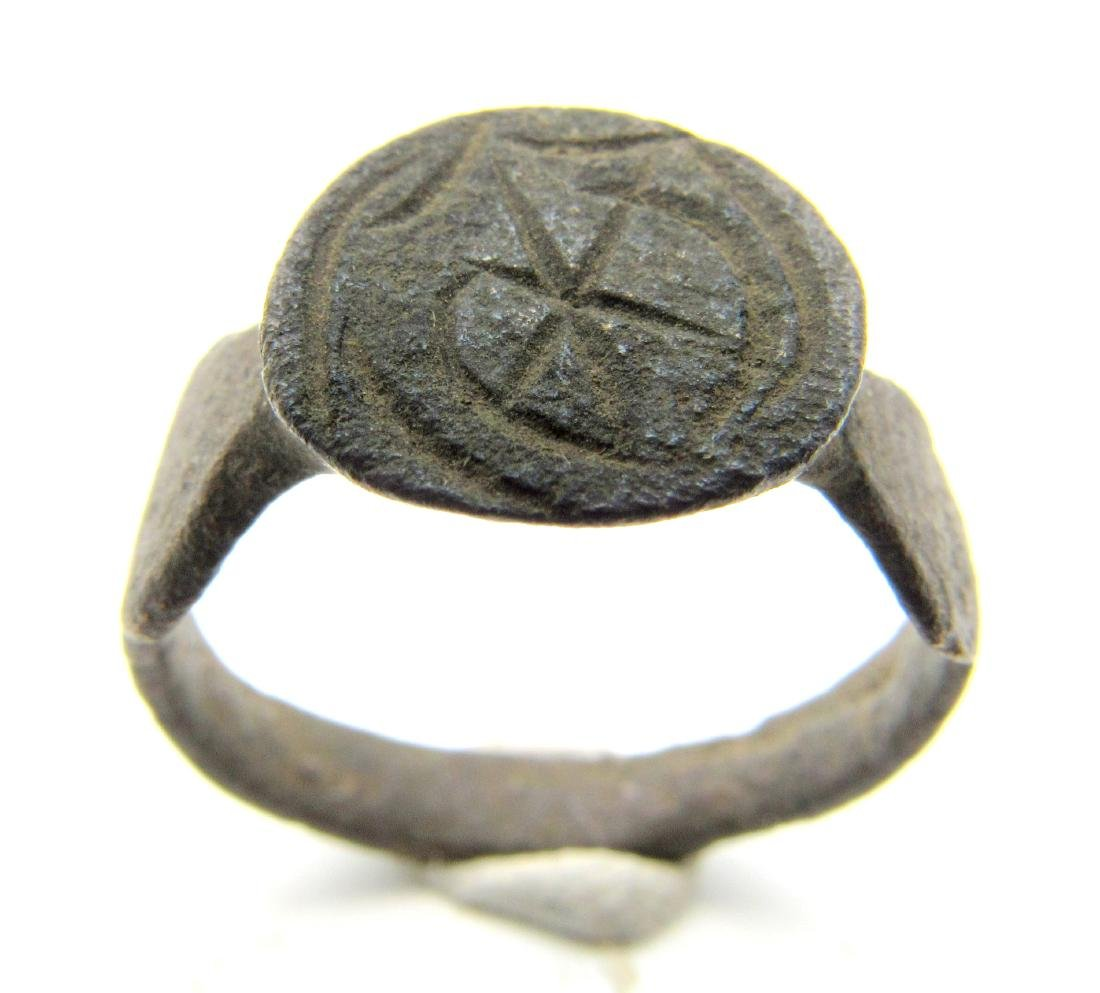 Crusaders Ring with Crescent and Star - 3