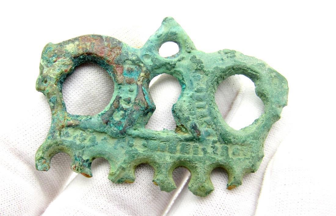 Viking Mythological Pendant with Two Dragons - 3