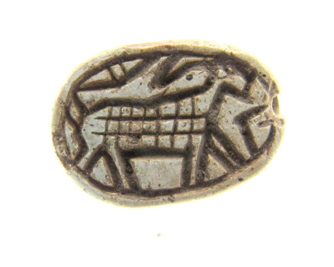 Egyptian Scarab Bead with Horse Symbol