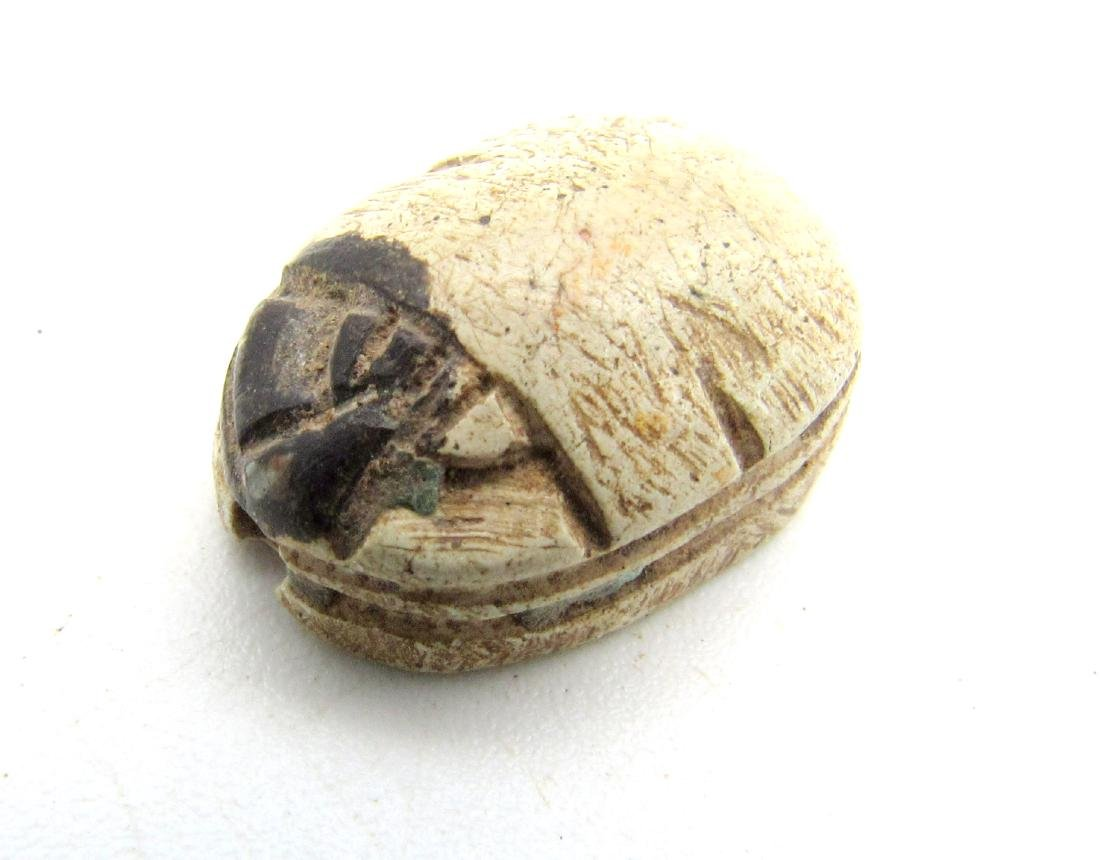 Egyptian Scarab Bead with Horse Symbol - 3