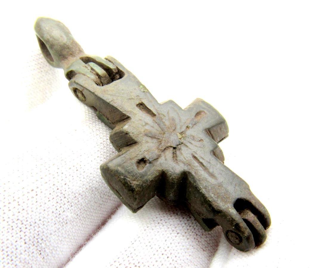 Medieval Reliquary (Enklopion) Cross Pendant