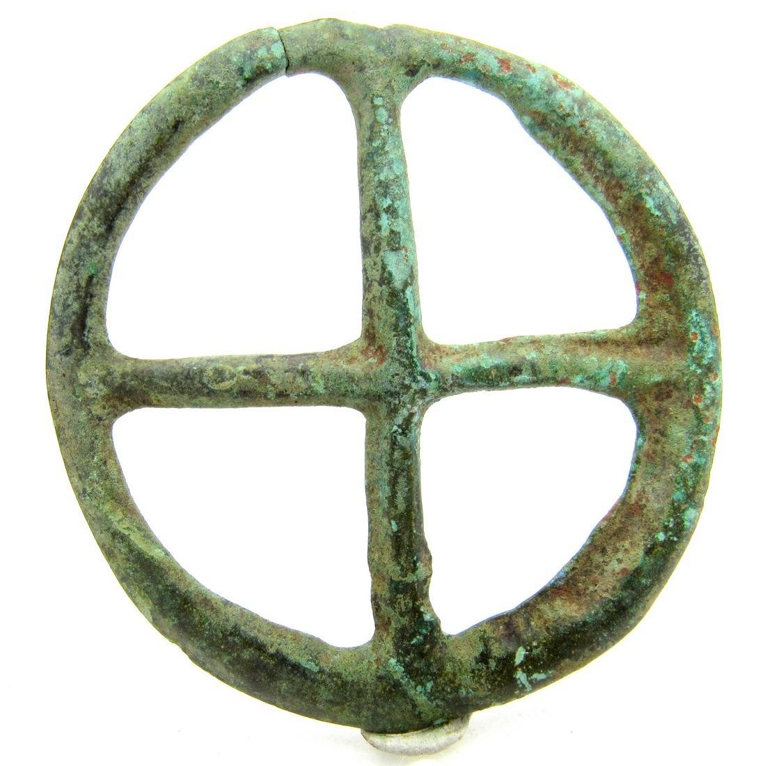Saxon period Amulet with cross - 3