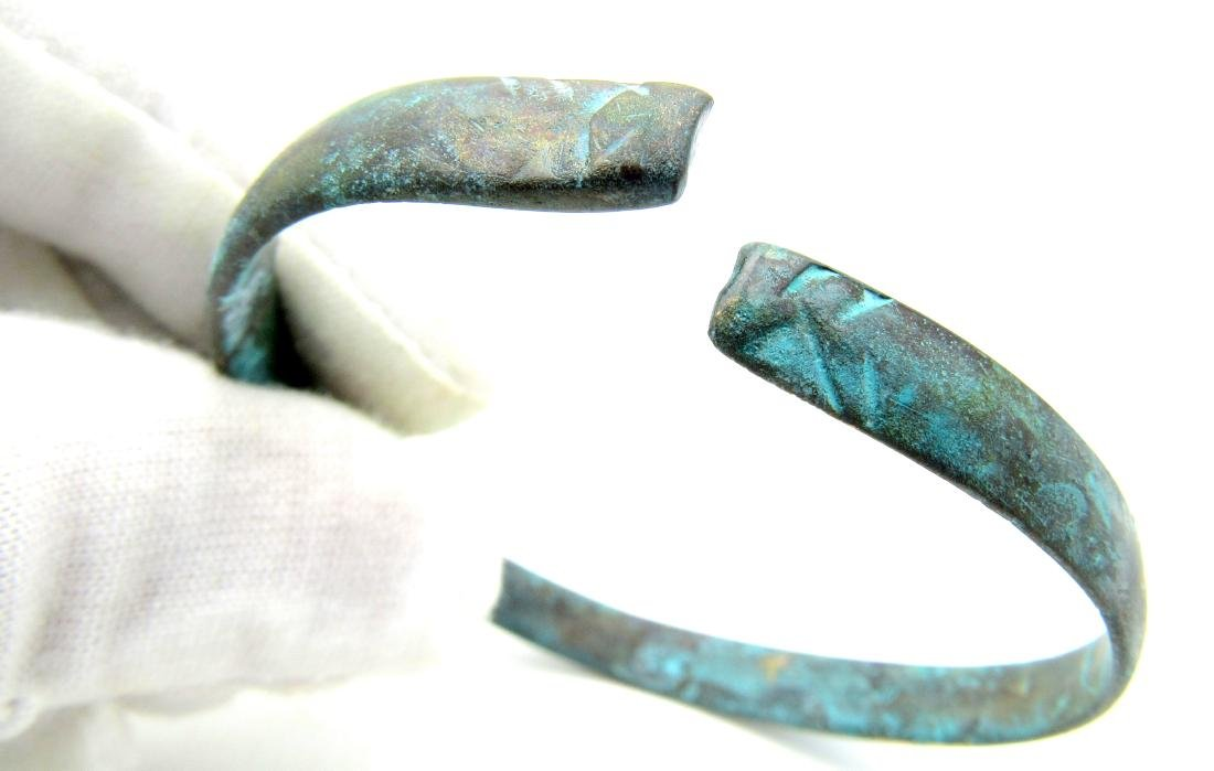 Celtic Iron Age Bracelet with Snake Head Terminals - 4