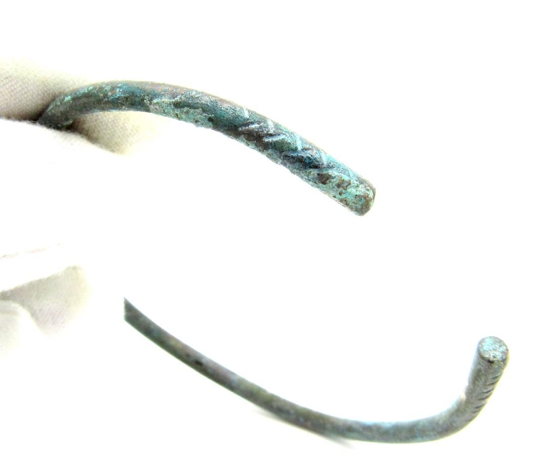 Celtic Iron Age Bracelet with Snake Head Terminals - 3