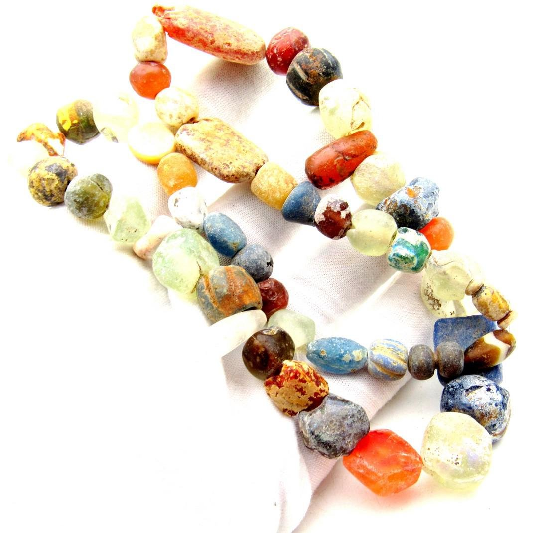 Viking Period Glass Beaded Necklace - 49 beads