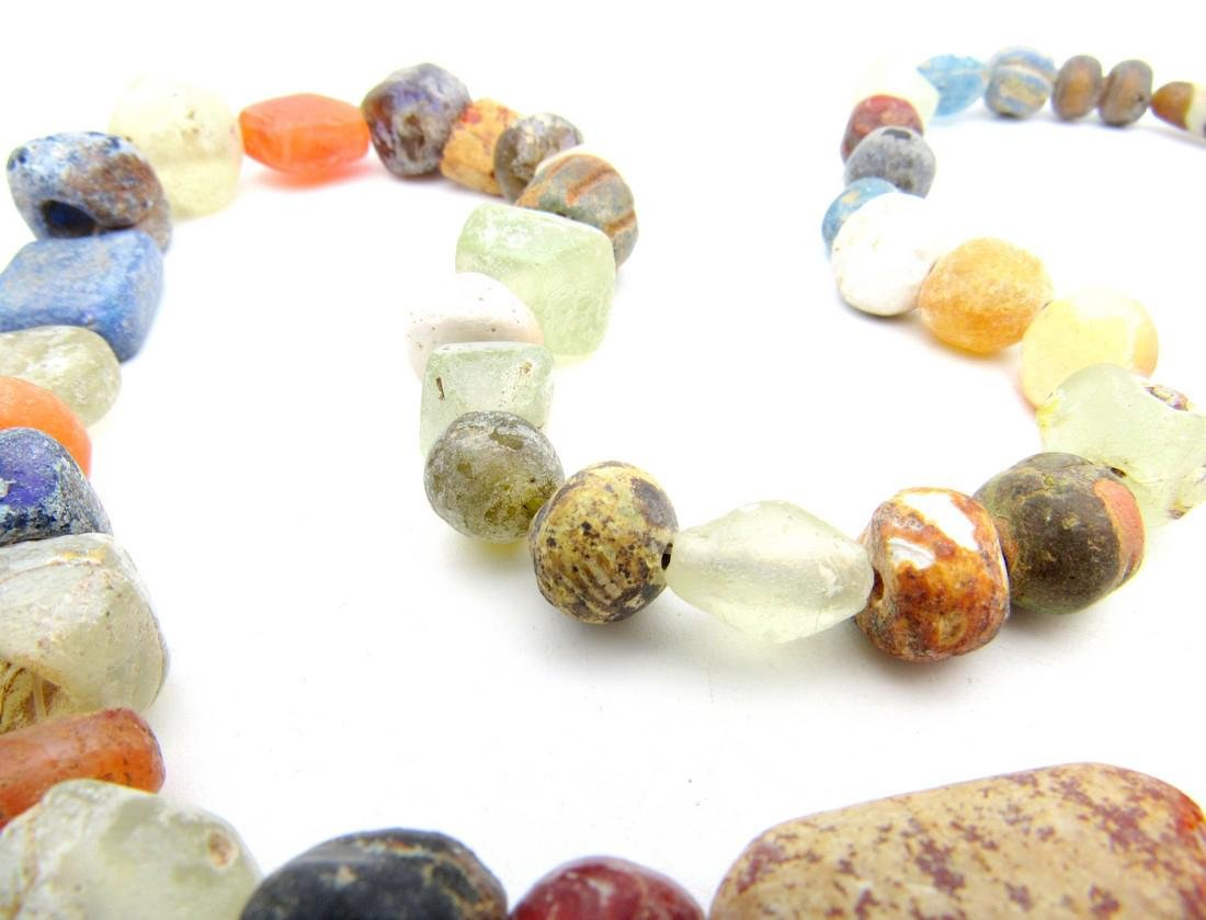 Viking Period Glass Beaded Necklace - 49 beads - 4