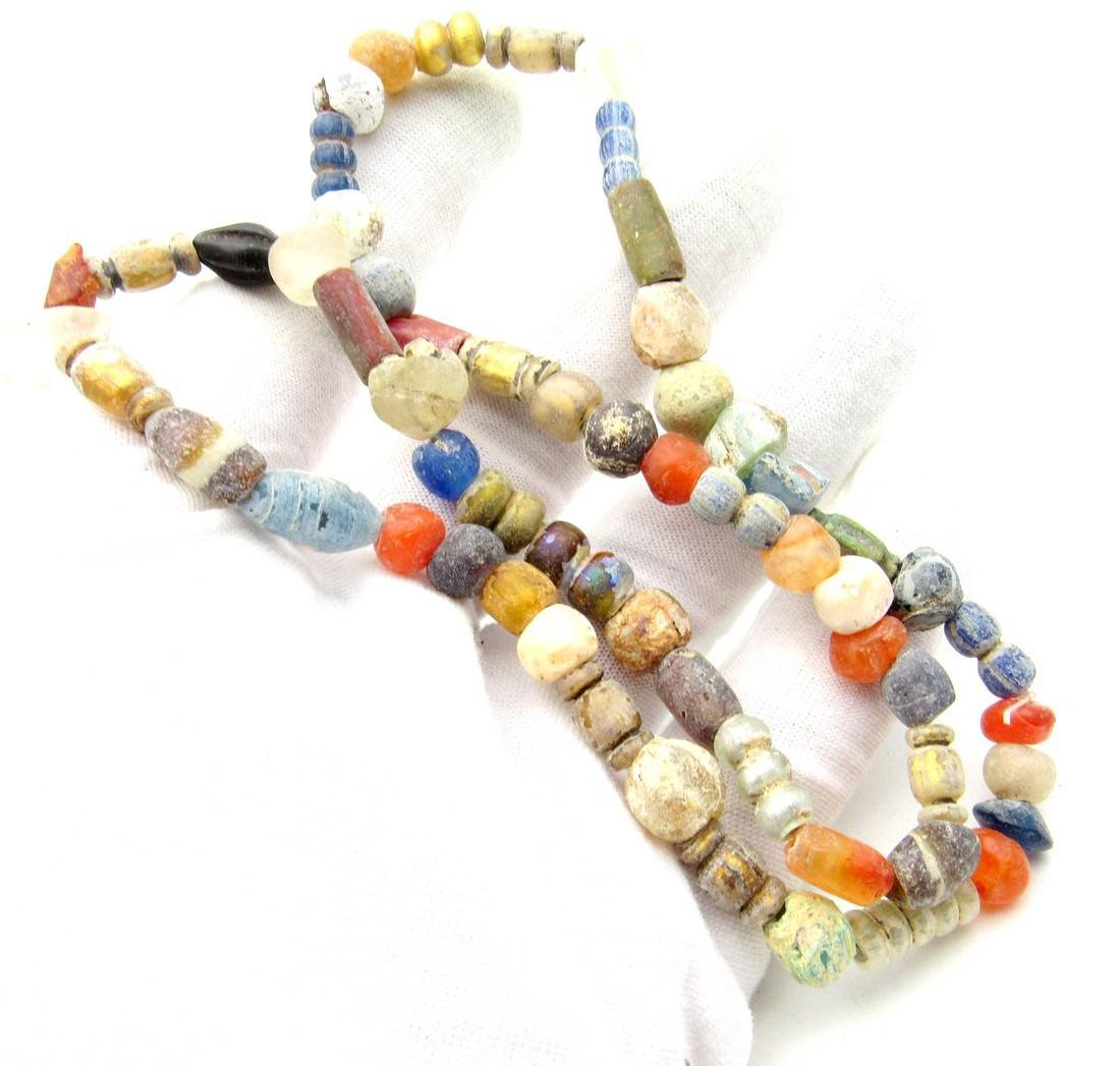 Viking Period Glass Beaded Necklace - 59 beads