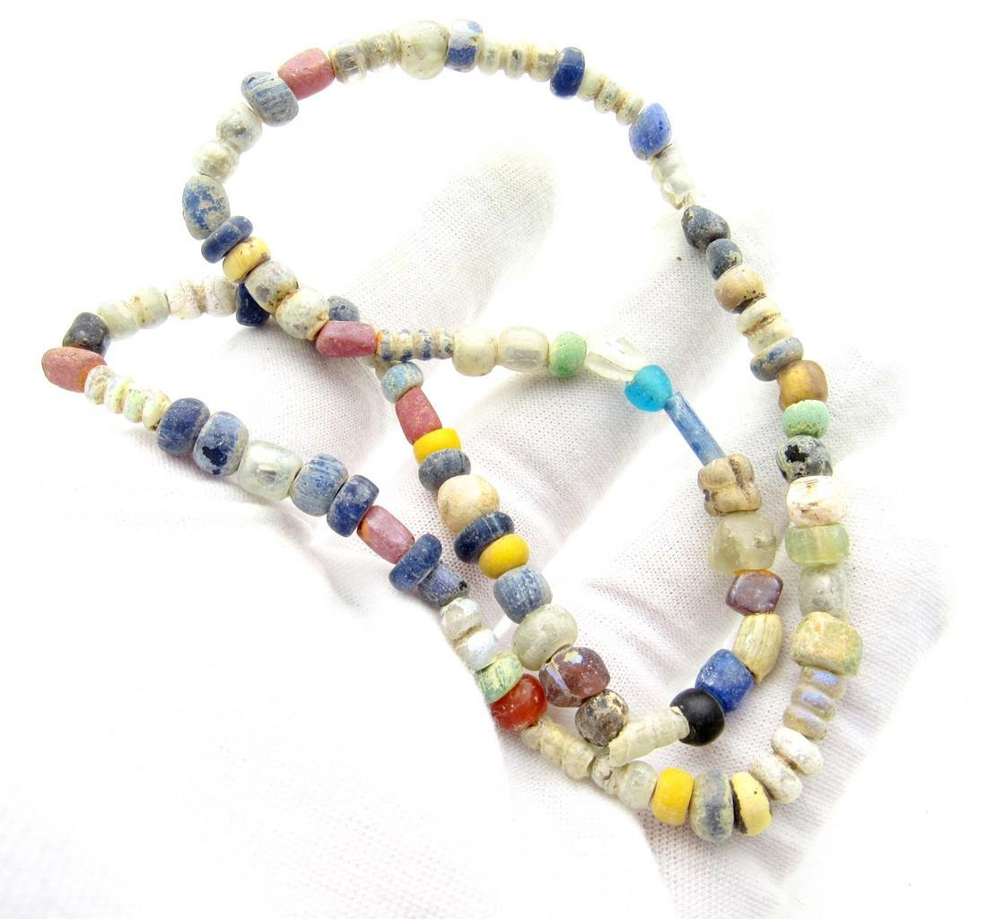 Viking Period Glass Beaded Necklace - 79 beads