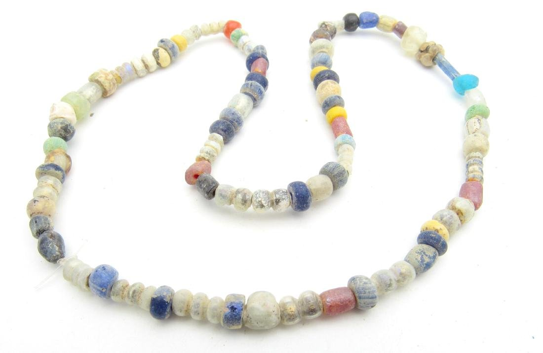 Viking Period Glass Beaded Necklace - 79 beads - 2