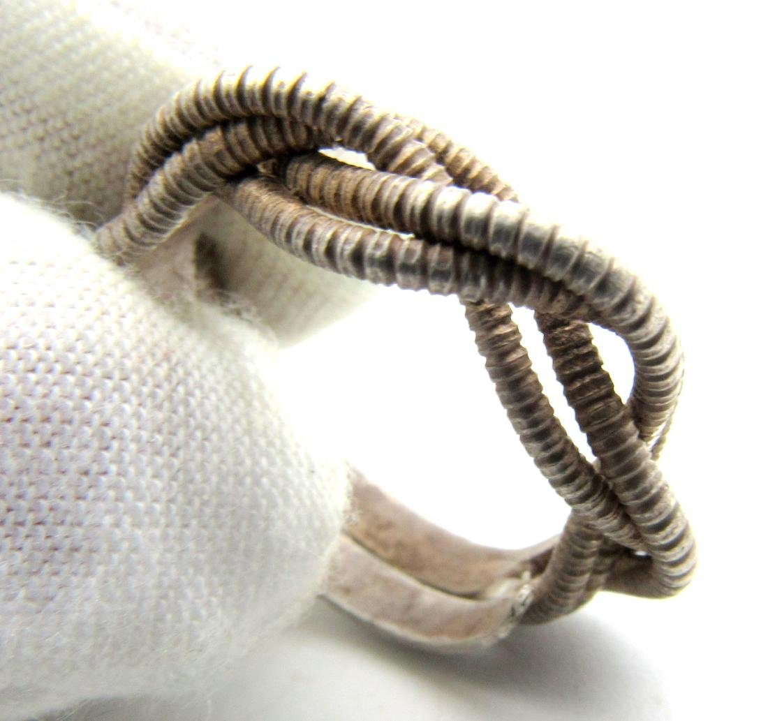 Viking Twisted Silver Ring with Three Coils