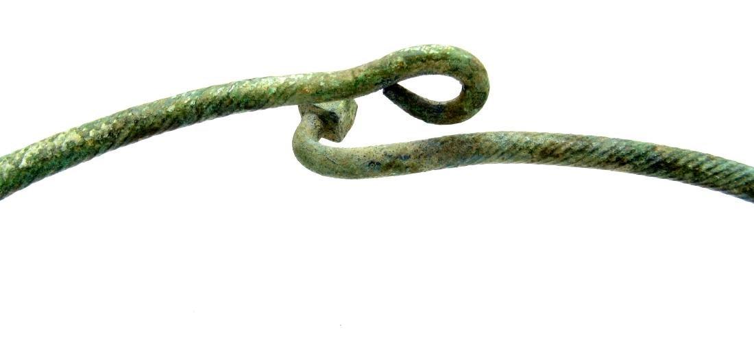 Viking Twisted Warrior's Neck Torc - 3
