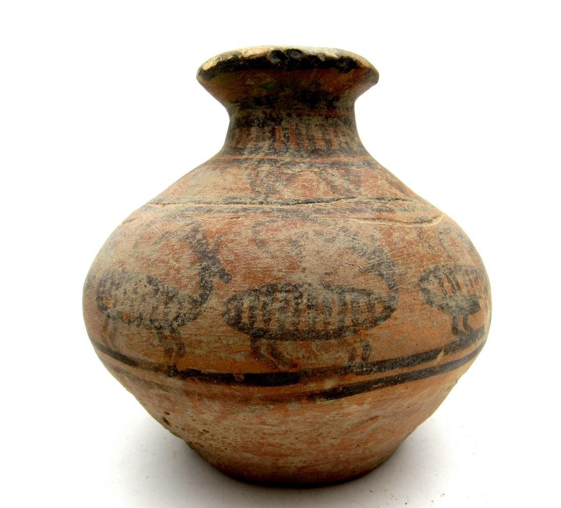 Indus Valley Jar with a Deer Motif - 4