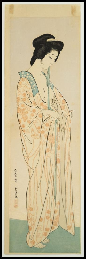 Goyo Hashiguchi Women Dressing Japanese Woodblock Print