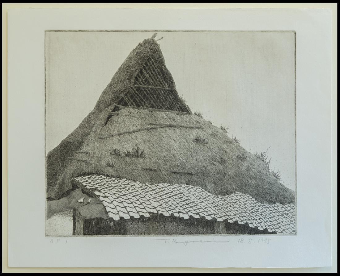 Ryohei Tanaka Old Farmhouse Etching
