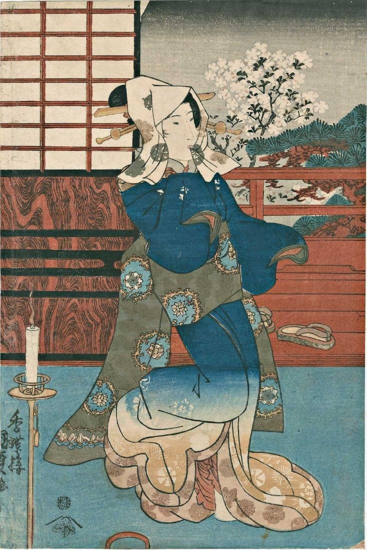 Toyokuni Kochoro (Kunisada) Japanese Woodblock Print