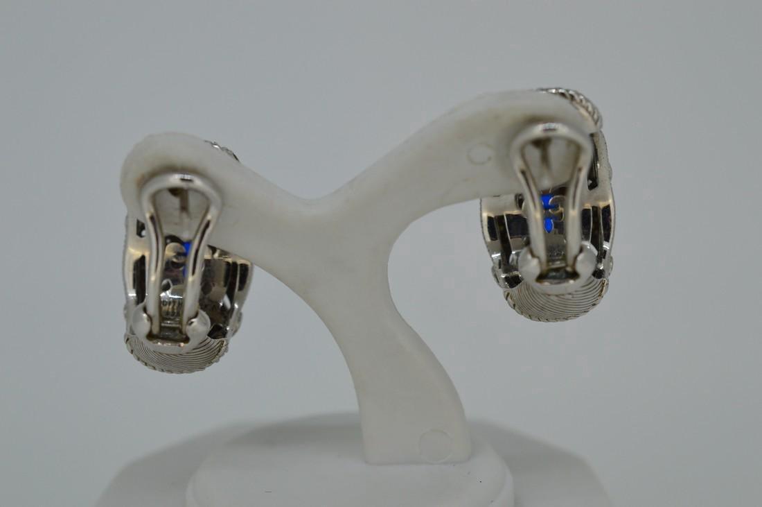 Judith Ripka Sterling Sapphire Cubic Zirconia Earrings - 3