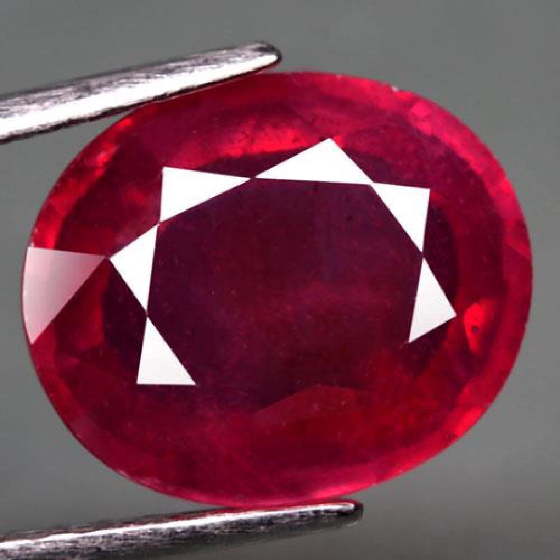 6.48 Carat Composite Loose Ruby