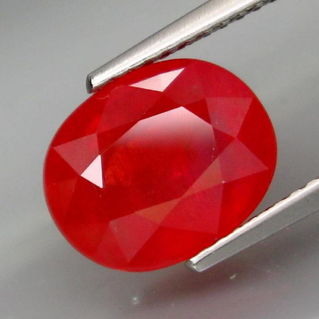 4.68 Carat Genuine Loose Red Sapphire