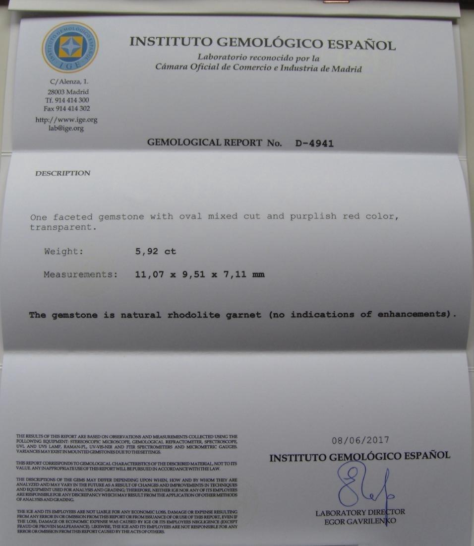 5.92 ct Loose Rhodolite Garnet - 3