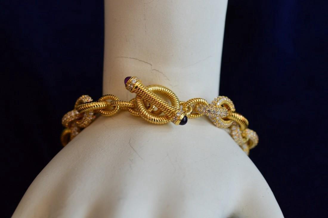 Judith Ripka Gold Clad Sterling CZ Bracelet & Earrings - 2