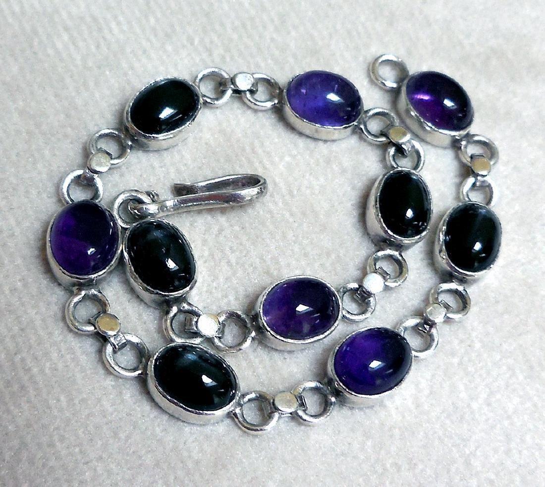 Sterling Silver Amethyst Bracelet, 12.5ctw