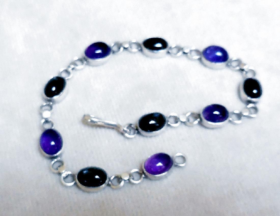 Sterling Silver Amethyst Bracelet, 12.5ctw - 2