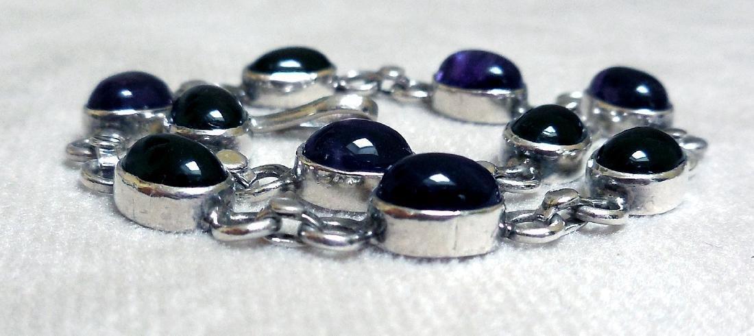 Sterling Silver Amethyst Bracelet, 12.5ctw - 3