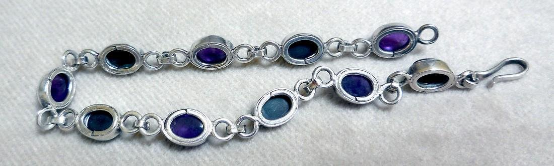 Sterling Silver Amethyst Bracelet, 12.5ctw - 4