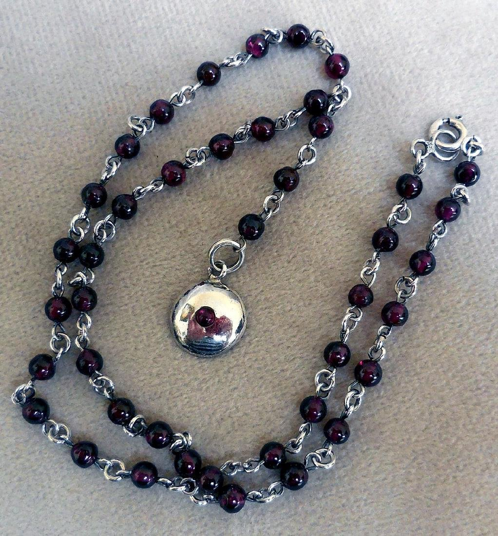 BOMA Sterling Silver Amethyst Necklace
