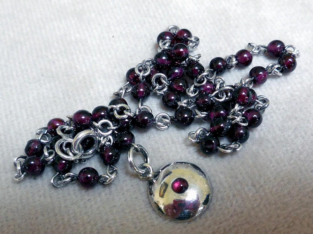 BOMA Sterling Silver Amethyst Necklace - 4