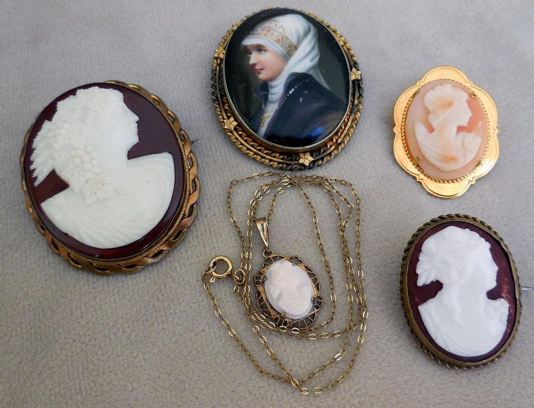 Collection of Antique & Vintage Cameos
