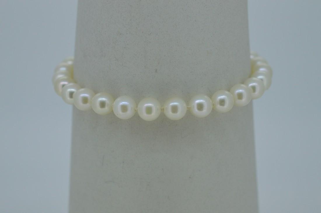 14K Yellow Gold Akoya Pearl Bracelet - 3