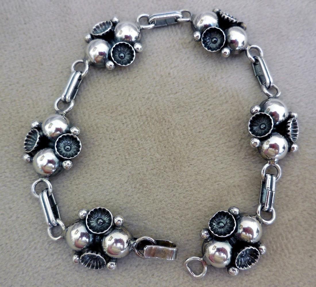 Mid-Century Modernist Danish Sterling Silver Bracelet
