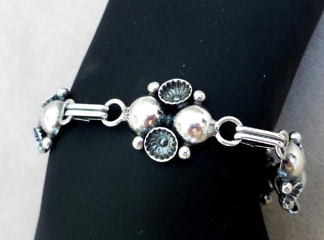 Mid-Century Modernist Danish Sterling Silver Bracelet - 4