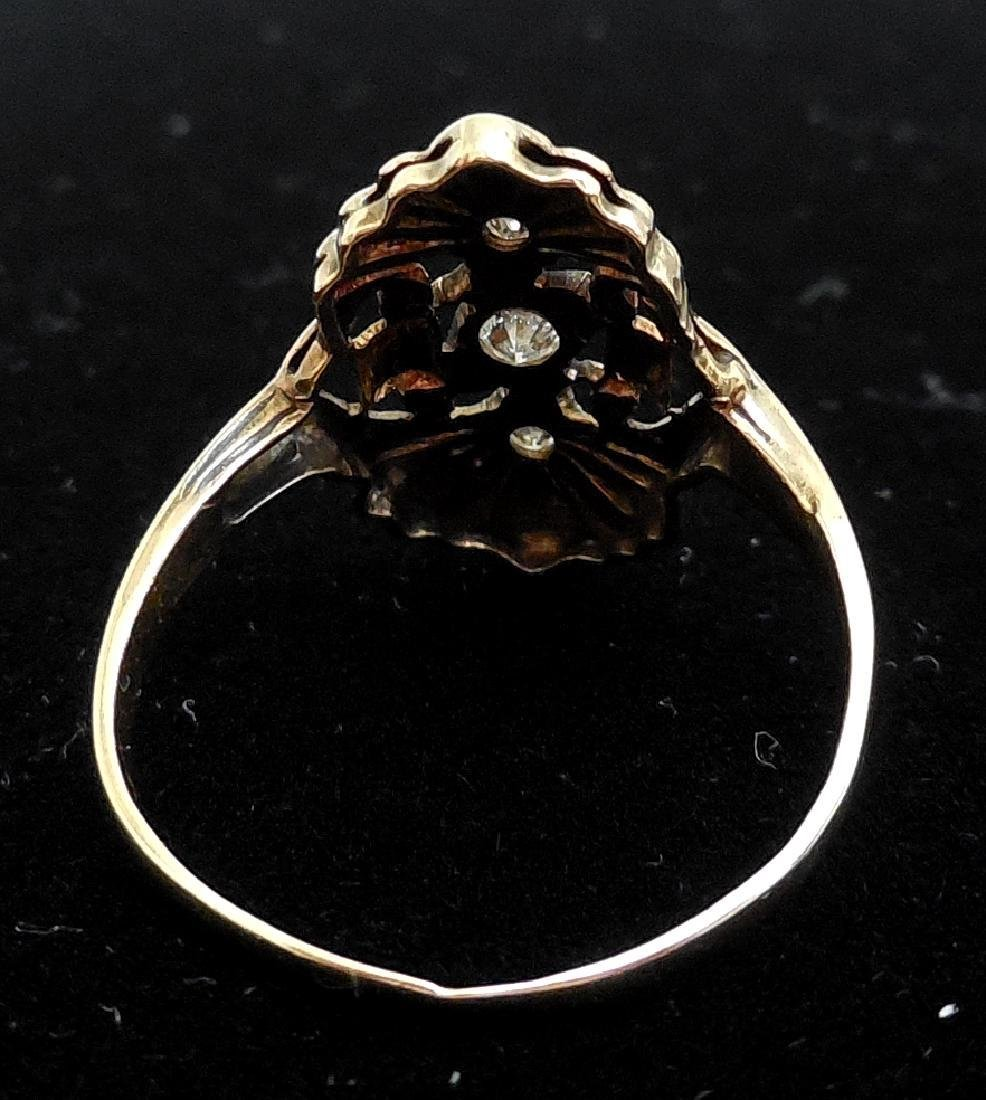 Antique 14K Gold Diamond Ring, 0.25ctw - 4