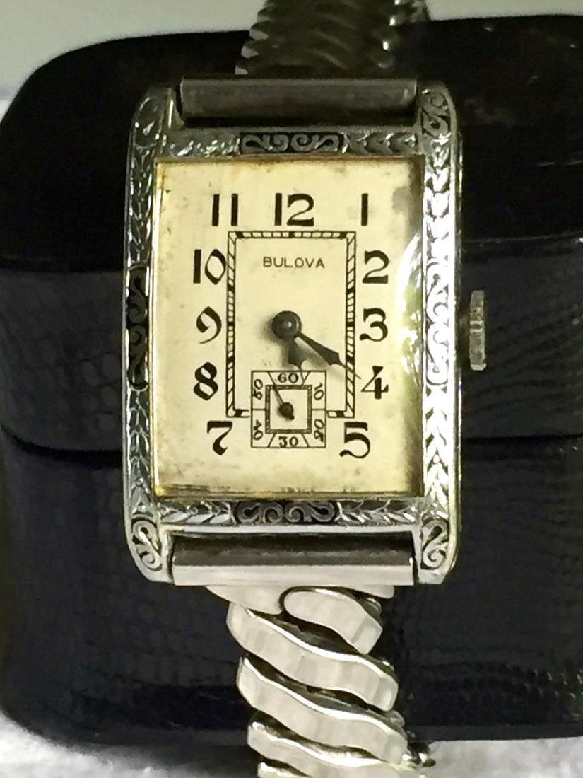 Vintage Bulova Art Deco 14K Gold Fill Watch, 1920s