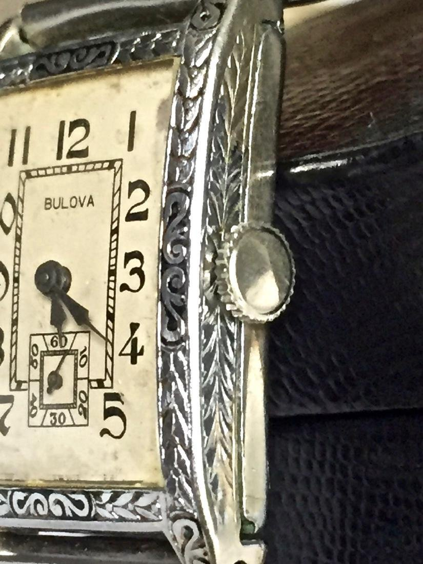 Vintage Bulova Art Deco 14K Gold Fill Watch, 1920s - 2
